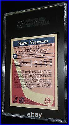 Steve Yzerman 1984-85 O-PEE-CHEE OPC Rookie Vintage AUTOGRAPHED SIGNED card SGC