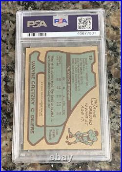WAYNE GRETZKY 1979 TOPPS ROOKIE CARD RC PSA 4 Sharp CENTERED! GOAT