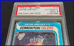 WAYNE GRETZKY SIGNED 1979 O-PEE-CHEE ROOKIE CARD #18 PSA/DNA Auto GRADE MINT 9