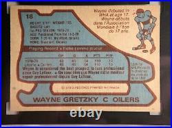 Wayne Gretzky 1979 O-pee-chee Sgc 8.5 Rookie #18 First Print! Crisp Card Opc