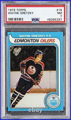 Wayne Gretzky 1979 Topps #18 Edmonton Oilers Hockey Card PSA NM 7