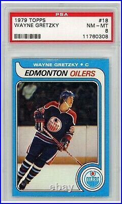 Wayne Gretzky 1979 Topps Rookie Card #18 PSA 8