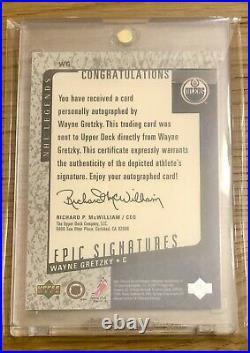 Wayne Gretzky 2000 Upper Deck Epic Signatures auto On Card