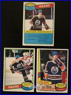 Wayne Gretzky 7 Card Lot 1980 Topps 250 182 87 1985 Topps 120 OPC 374 & More