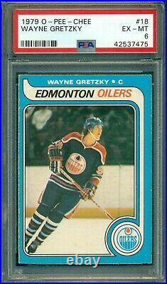 Wayne The Great One Gretzky 1979 O-Pee-Chee (OPC) Rookie #18 PSA 6 HOT